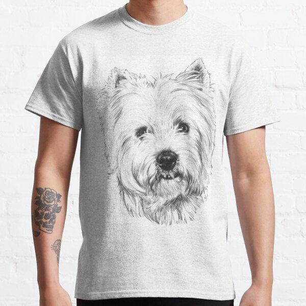 Beloved Westie Portrait in Graphite Classic T-Shirt