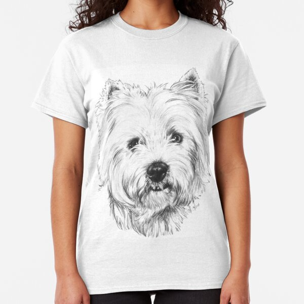 West Highland Terrier T-shirt Dog Breed Westie Face Tee Men/'s Dog Person Gift