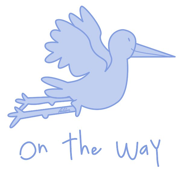 """On The Way', Baby Boy, Baby Blue Stork"""" by rillen 