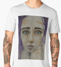 Girl with the violet hair Men's Premium T-Shirt
