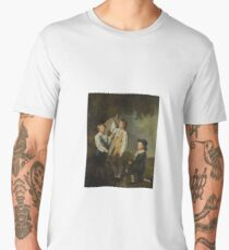 Joseph Wright of Derby, A.R.A. DERBY 1734 - 1797 THE THREE ELDEST CHILDREN OF RICHARD ARKWRIGHT WITH A KITE Men's Premium T-Shirt