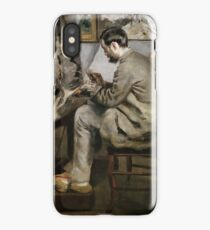 Frédéric Bazille Painting at his Easel 1867 Pierre-Auguste Renoir iPhone Case/Skin