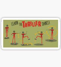 Thriller Dance Steps Sticker