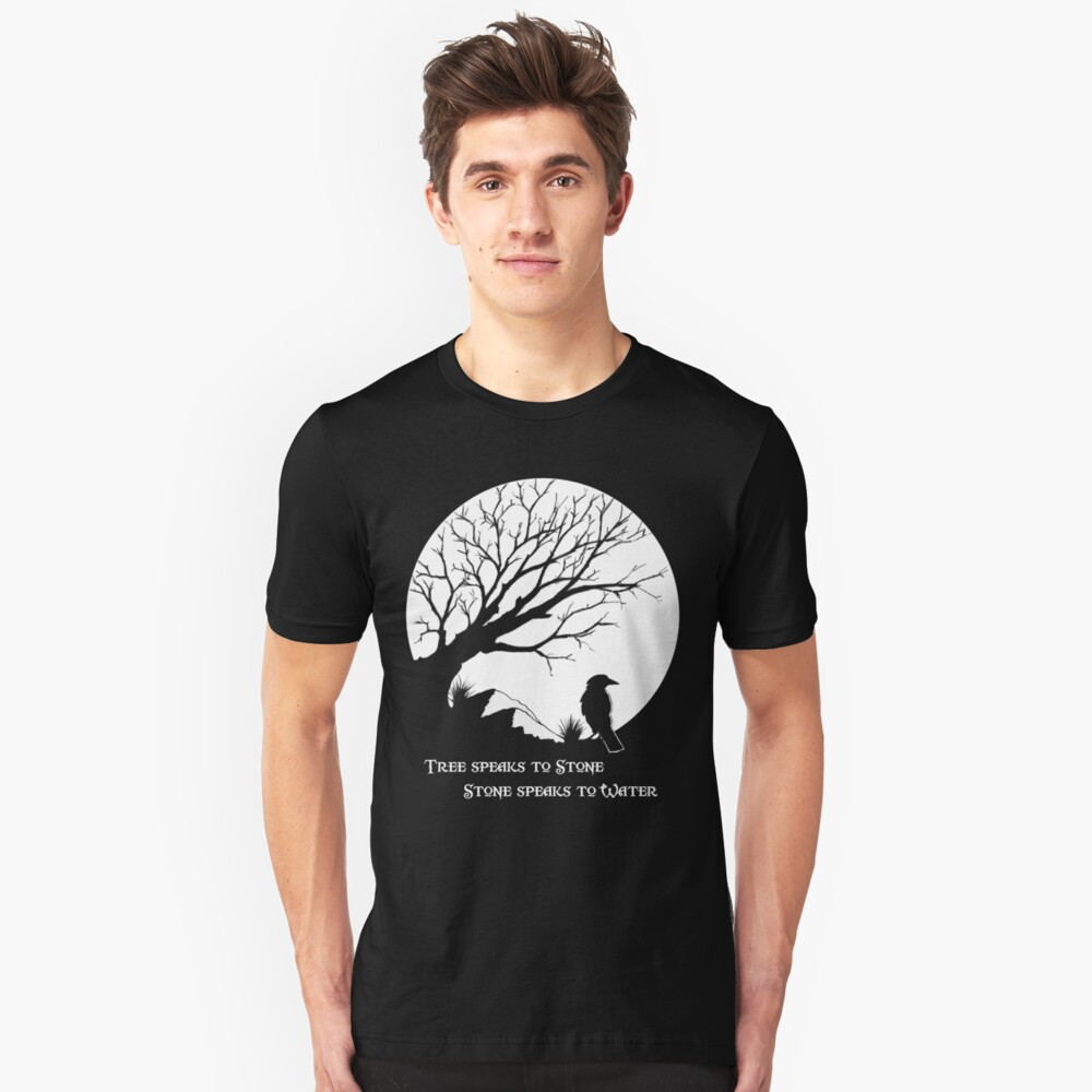 Tree Speaks to Stone.... Unisex T-Shirt Front