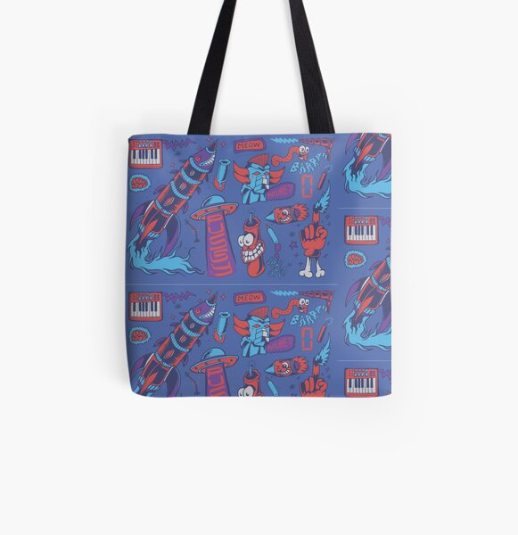 Life Sucks pattern #2 All Over Print Tote Bag