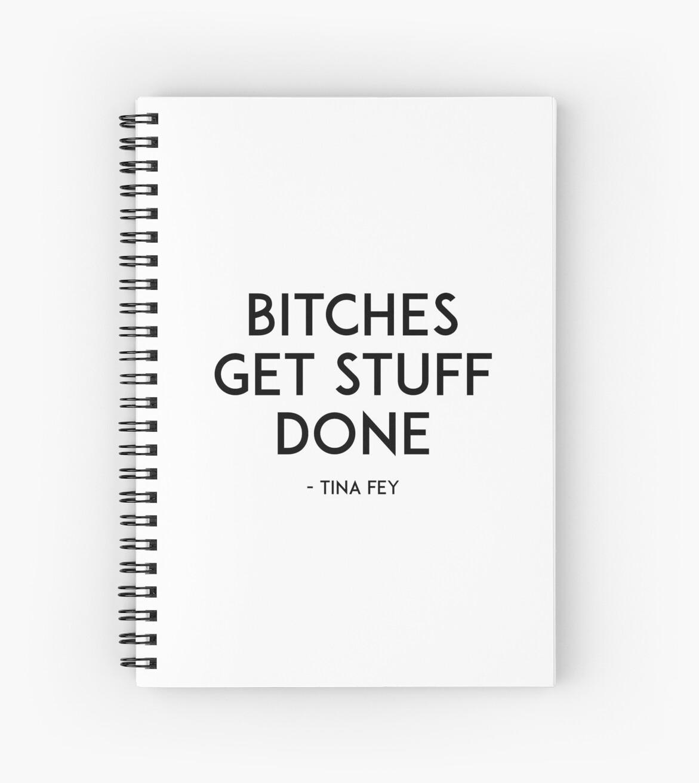 Cuadernos de espiral «Las perras consiguen cosas hechas, Boss Lady ...