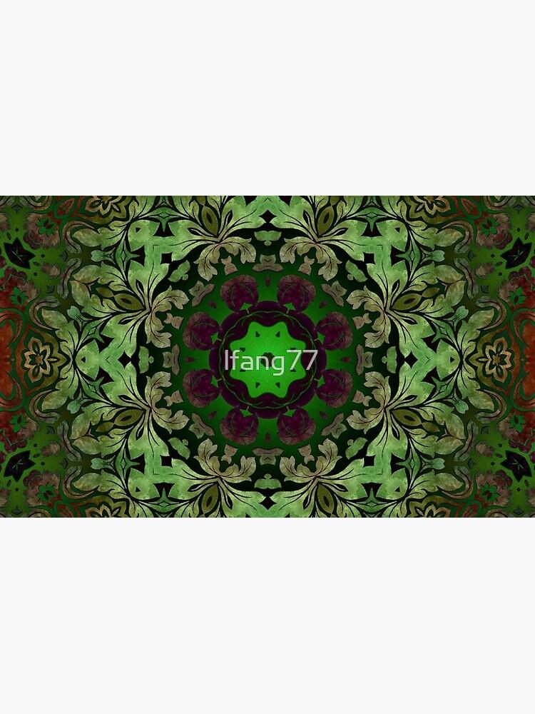 Kunstböhmisches Druckwaldgrün Mandala der Renaissancekunst von lfang77