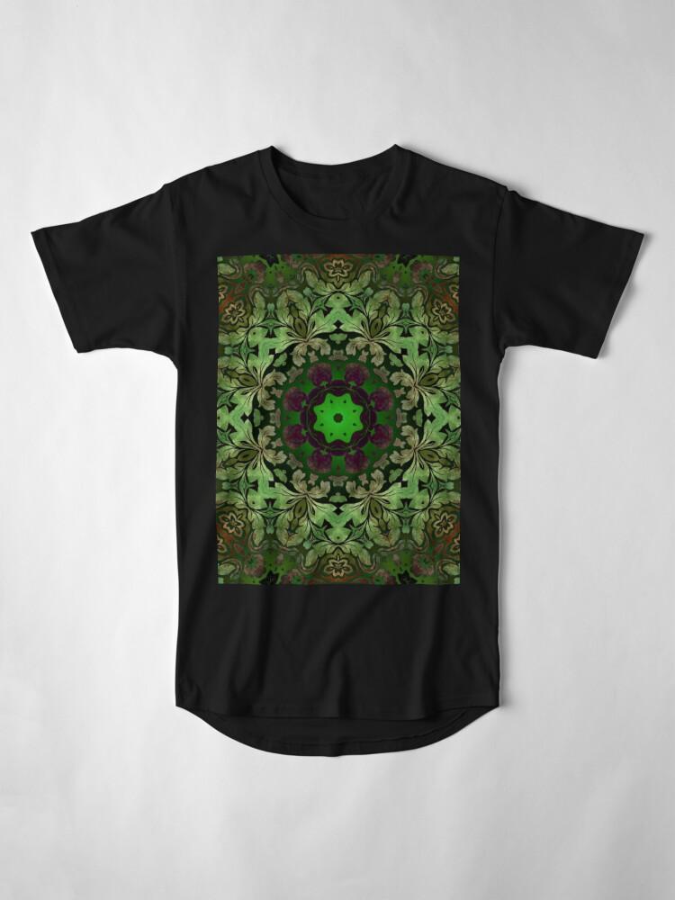 Alternative Ansicht von Kunstböhmisches Druckwaldgrün Mandala der Renaissancekunst Longshirt