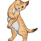 Ginger cat pattern by Extreme-Fantasy