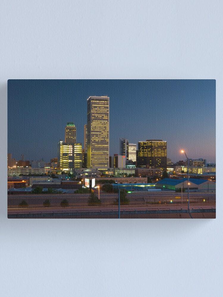 Alternate view of Tulsa Skyline (Alan Copson © 2007) Canvas Print