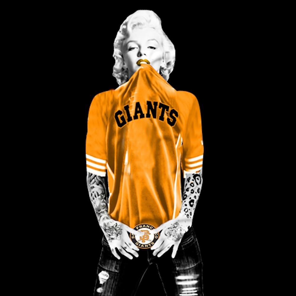 Marilyn Monroe For San Francisco Giants by JKulte