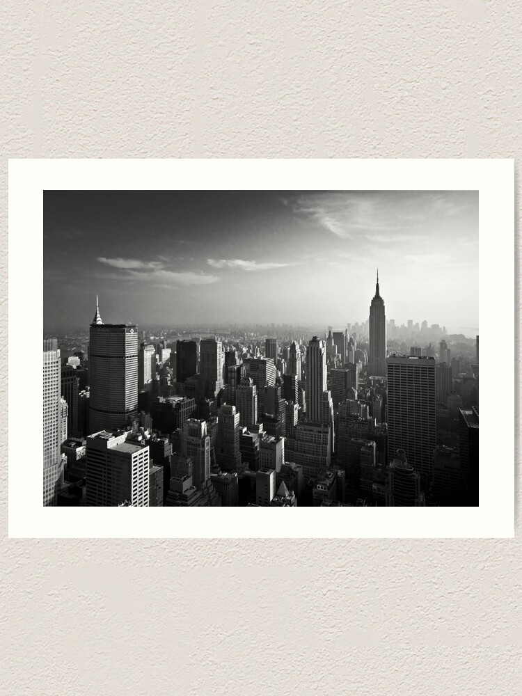 Alternate view of Manhattan Skyline with Empire State Building (Alan Copson ©) Art Print