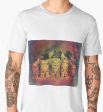 Steampunk Kittens Vintage Men's Premium T-Shirt