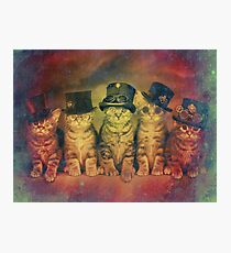 Steampunk Kittens Vintage Photographic Print