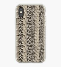 Taupe grass thatchwork iPhone Case