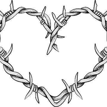 Heart shape of barbed wire by ativka