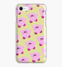 soft flying kirby yellow iPhone Case/Skin