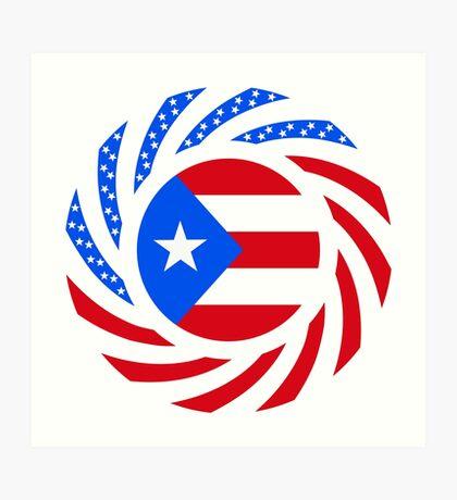 Puerto Rican American Multinational Patriot Flag Series Art Print