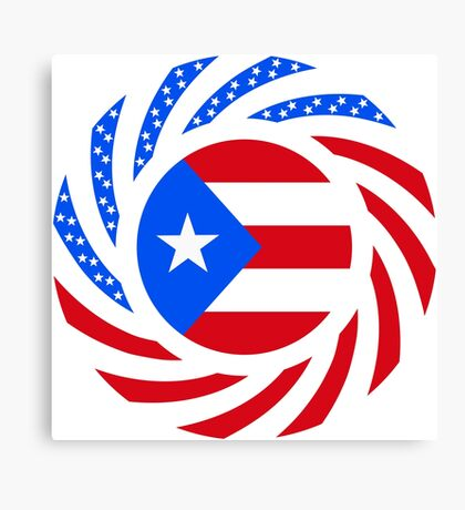 Puerto Rican American Multinational Patriot Flag Series Canvas Print