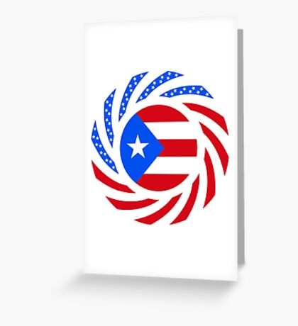 Puerto Rican American Multinational Patriot Flag Series Greeting Card