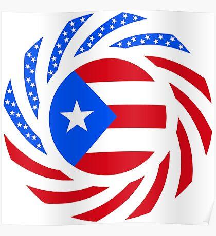 Puerto Rican American Multinational Patriot Flag Series Poster
