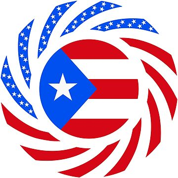 Puerto Rican American Multinational Patriot Flag Series by carbonfibreme