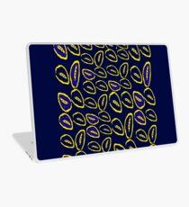Yellow seed blue pattern Laptop Skin