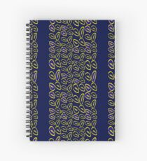 Yellow seed blue pattern Spiral Notebook