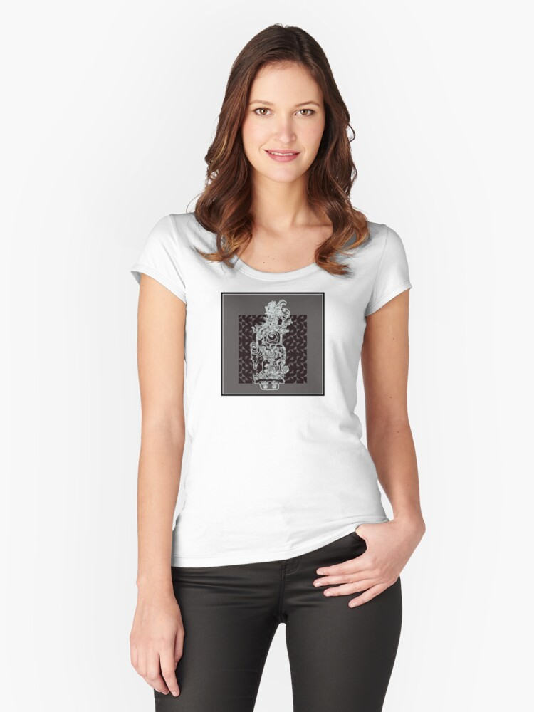 hieroglyphic 3 Women's Fitted Scoop T-Shirt Front