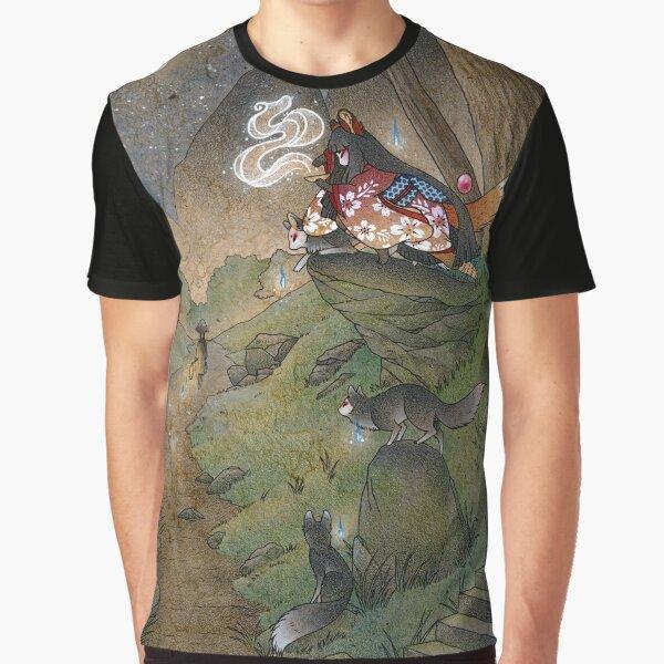 Okina's Illusion - Kitsune Yokai TeaKitsune Graphic T-Shirt