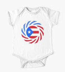 Puerto Rican American Multinational Patriot Flag Series Kids Clothes