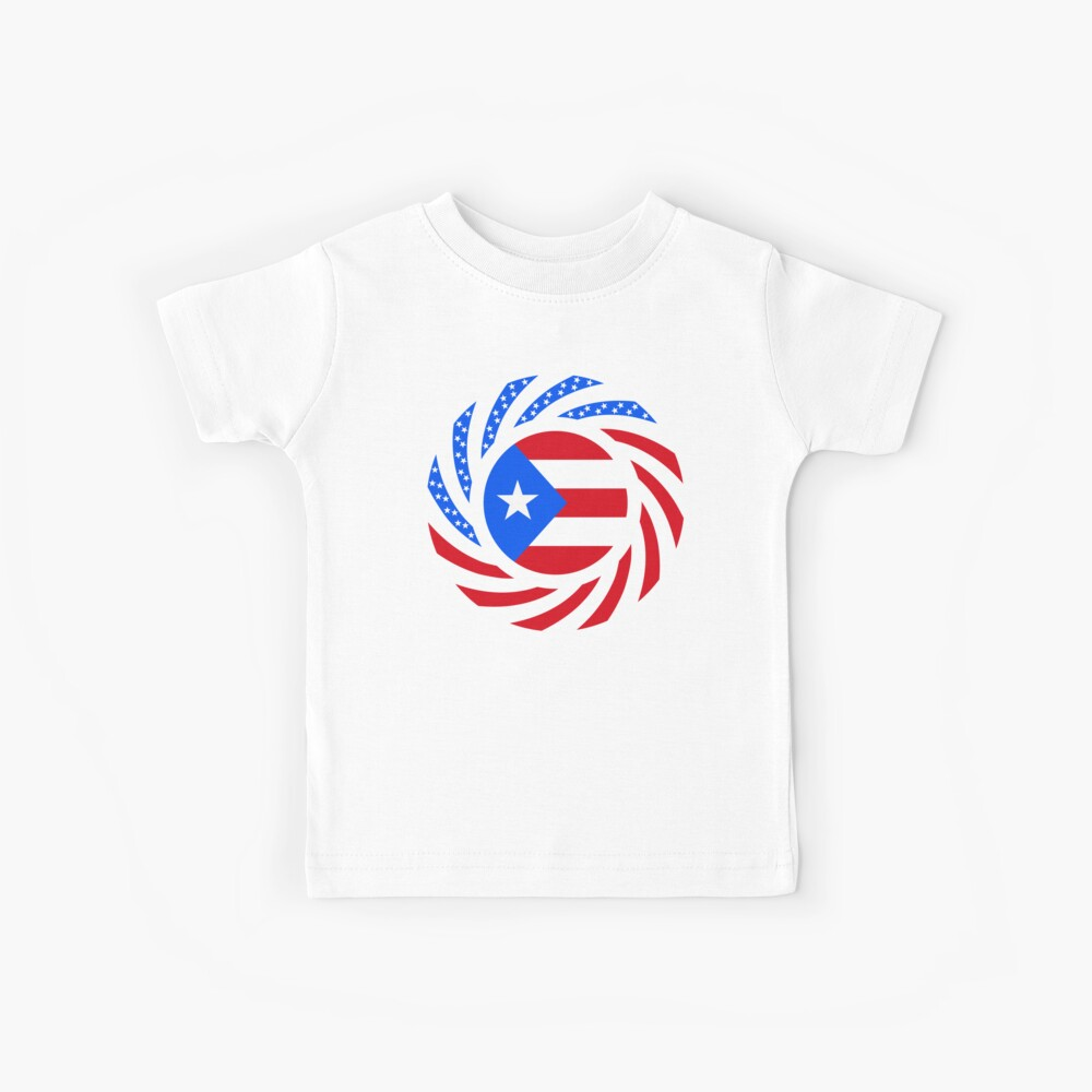 Puerto Rican American Multinational Patriot Flag Series Kids T-Shirt