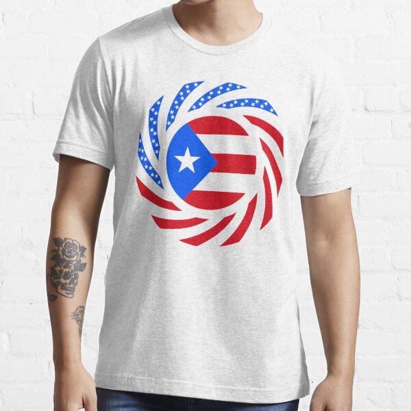 Puerto Rican American Multinational Patriot Flag Series Essential T-Shirt