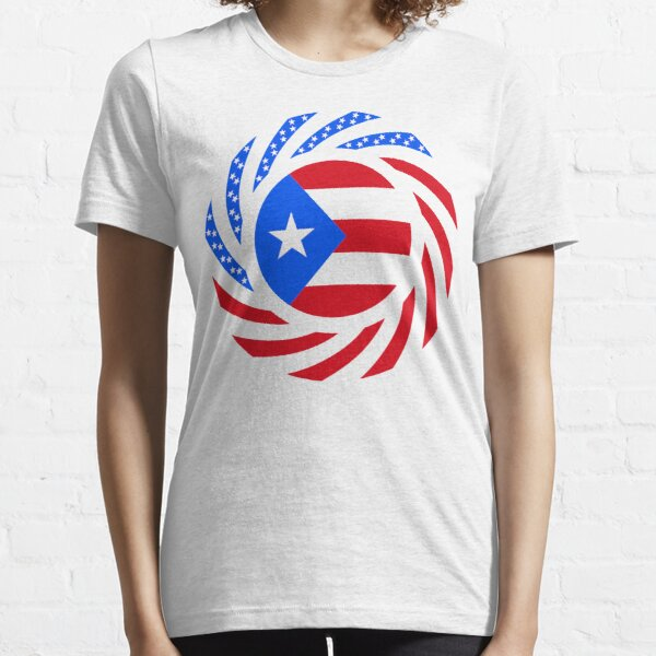 Puerto Rican American Multinational Patriot Flag Series Essential T-Shirt