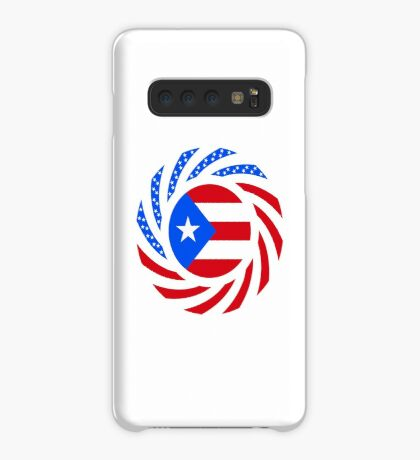 Puerto Rican American Multinational Patriot Flag Series Case/Skin for Samsung Galaxy