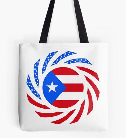 Puerto Rican American Multinational Patriot Flag Series Tote Bag