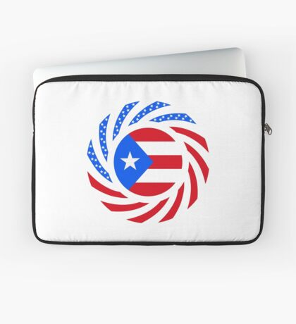Puerto Rican American Multinational Patriot Flag Series Laptop Sleeve
