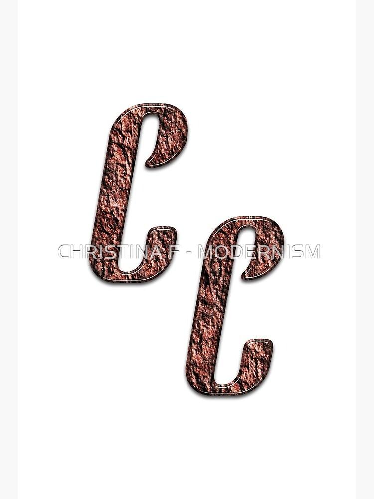 Double Monogram Cc Art Board Print By Studio Cfnw11 Redbubble