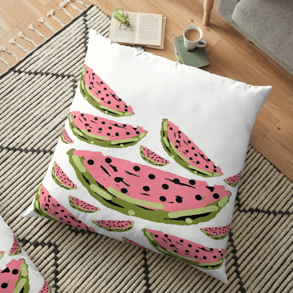 Watermelon Summer pattern Floor Pillow