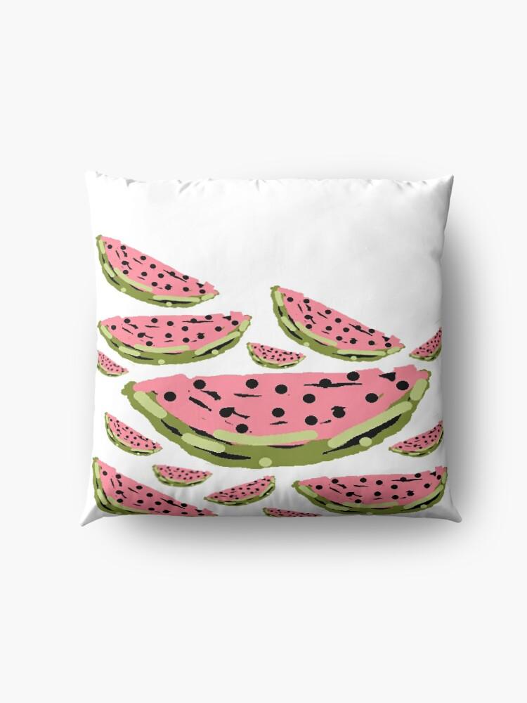 Alternate view of Watermelon Summer pattern Floor Pillow