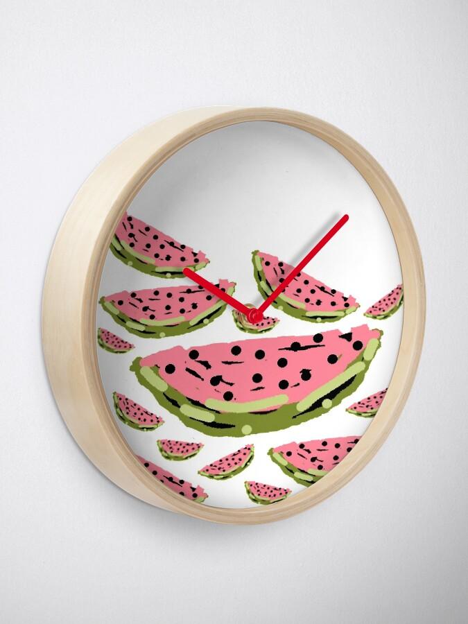 Alternate view of Watermelon Summer pattern Clock