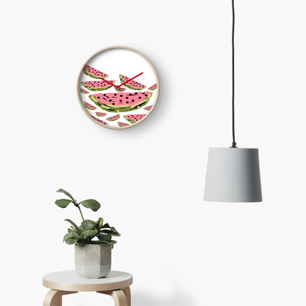 Watermelon Summer pattern Clock