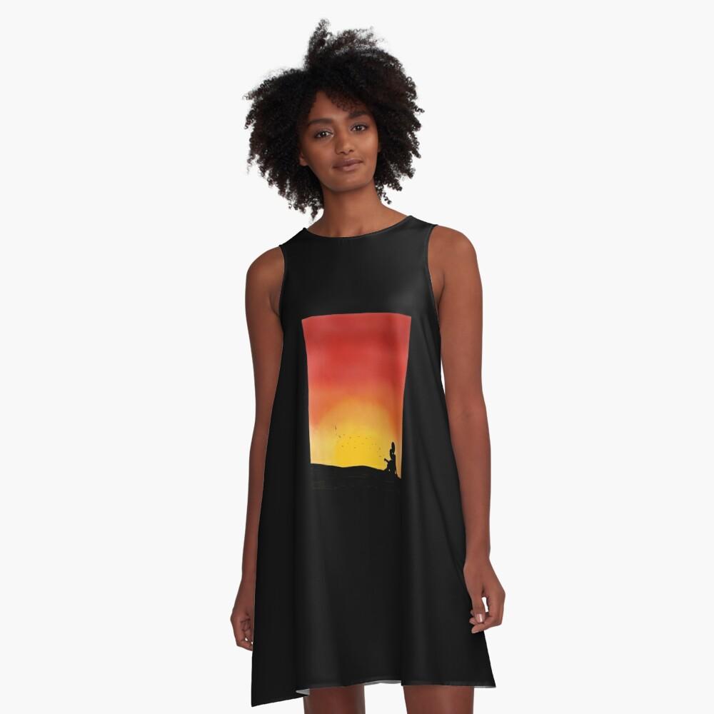 Silhouette Sunset - Parent & Child A-Line Dress Front