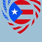 Puerto Rican American Multinational Patriot Flag Series 2.0 by Carbon-Fibre Media