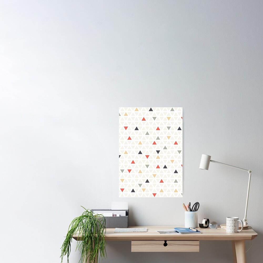 Geometrisches moderne Kunst Dreieck Poster