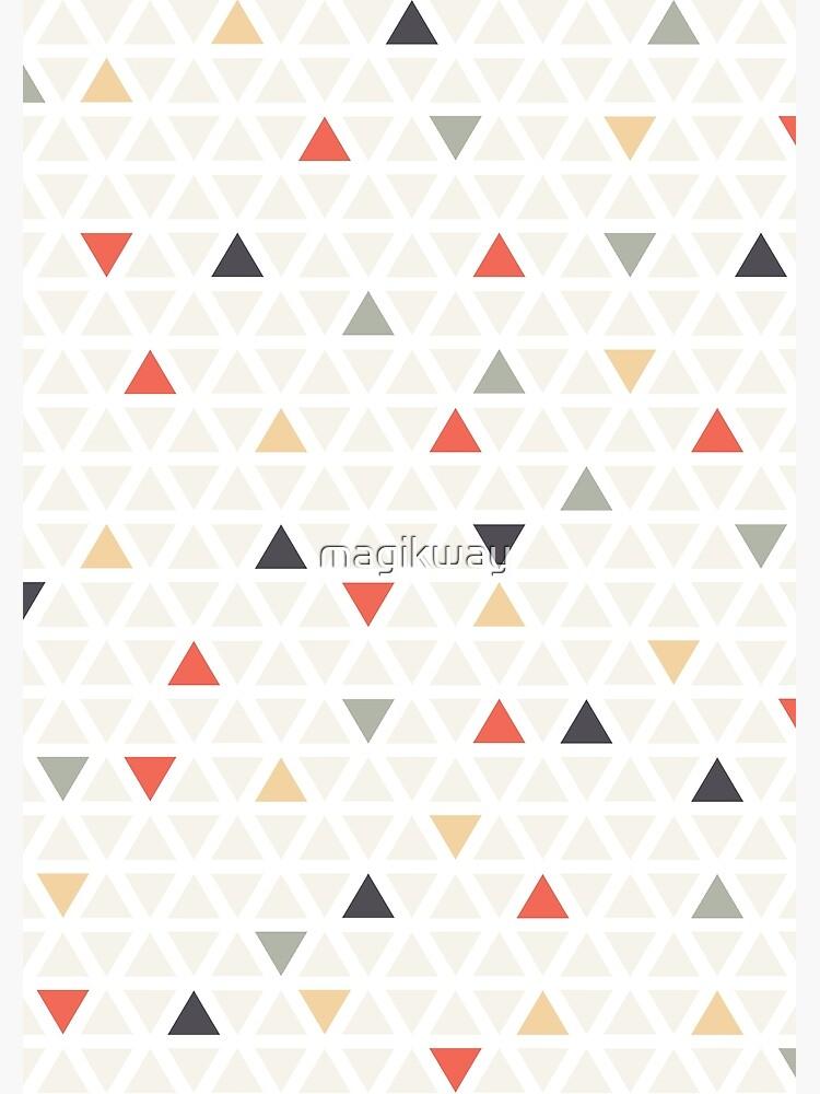 Geometrisches moderne Kunst Dreieck von magikway
