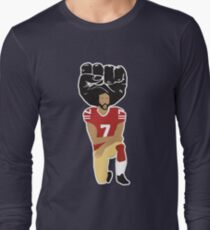 02d427ae Colin Kaepernick Kneeling - I'm With Kap Long Sleeve T-Shirt