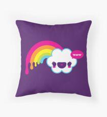 Wow Rainbow Throw Pillow