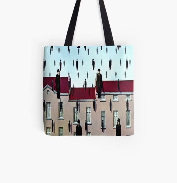 Golconda by  René Magritte All Over Print Tote Bag