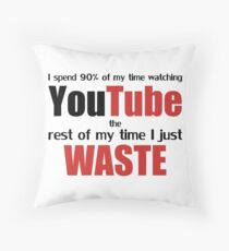 Watching YouTube Throw Pillow